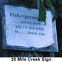Fishing Permitted sign