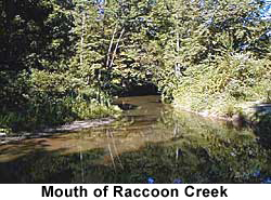 Mouth of Raccoon Creek